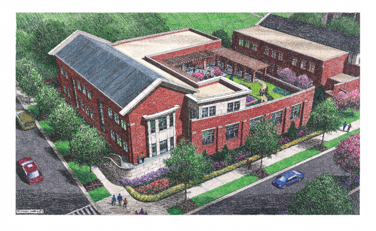 TES Fine Arts Building Rendering